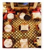 Restaurant Palais Des Merinides Fes Morocco Paint  Fleece Blanket