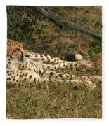 Resting Cheetah Fleece Blanket
