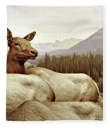 Resting Deer Fleece Blanket