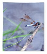 Resting Dragonfly Fleece Blanket