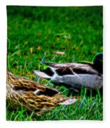 Resting Ducks Fleece Blanket