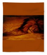 Resting Lion Fleece Blanket