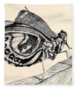 Resting Monarch  Fleece Blanket