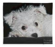 Resting Puppy Fleece Blanket