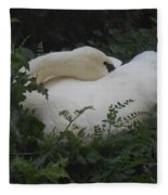 Resting Swan Fleece Blanket