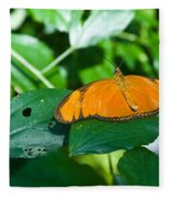 Resting--tropical Butterfly Fleece Blanket