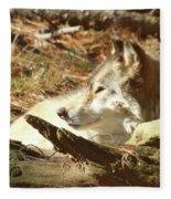 Resting Wolf Fleece Blanket