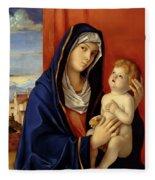 Restored Old Master Madonna And Child  Fleece Blanket