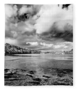Restronguet Weir In Monochrome Fleece Blanket