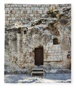 Resurrection - Garden Tomb Fleece Blanket