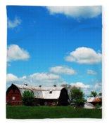 Retired Barn Fleece Blanket