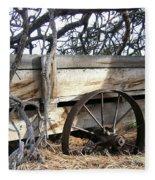 Retired Farm Wagon Fleece Blanket