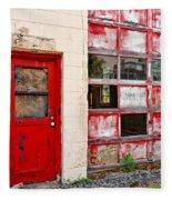 Retired Garage Fleece Blanket