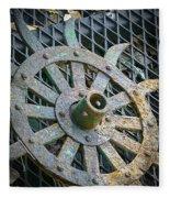 Retired Plow Wheel Fleece Blanket