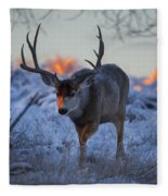 Retreat From The Sunrise Fleece Blanket