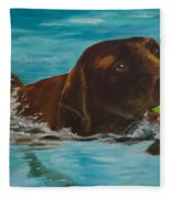 Retriever Play Fleece Blanket