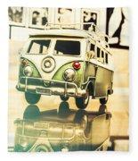 Retro 60s Toy Van Fleece Blanket