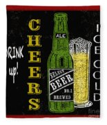 Retro Beer Sign-jp2915 Fleece Blanket