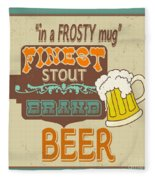 Retro Beer Sign-jp2917 Fleece Blanket