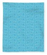 Retro Blue Pattern Fleece Blanket