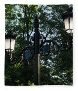 Retro Chic Streetlamps - Old World Charm With A Modern Twist Fleece Blanket