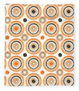 Retro Circles Pattern Fleece Blanket