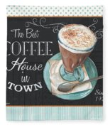 Retro Coffee 2 Fleece Blanket