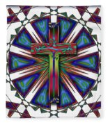 Retro Cross Fleece Blanket