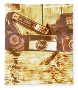 Retro Film Cameras Fleece Blanket