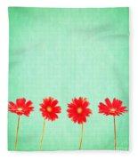 Retro Flowers Fleece Blanket