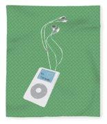 Retro Ipod Fleece Blanket