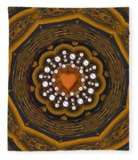 Retro Peace With Love And A Heart Of Gold Fleece Blanket