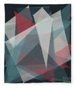 Retro Polygon Pattern Fleece Blanket