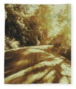 Retro Rainforest Road Fleece Blanket