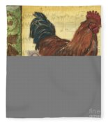 Retro Rooster 2 Fleece Blanket