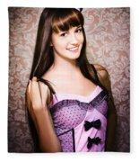 Retro Showgirl Fleece Blanket