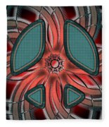 Retro Style Peace Sign Fleece Blanket