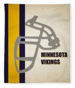 Retro Vikings Art Fleece Blanket