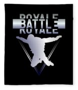 Retro Vintage 90s Chrome Skydiver Battle Royale Gamer T Shirt Fleece Blanket