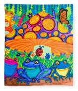 Return To Happy Frog Meadow Fleece Blanket