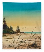 Return To The Shore Fleece Blanket