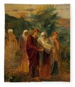 Returning From The Burial Of Christ Fleece Blanket