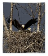 Returning Home To The Nest Fleece Blanket