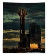 Reunion Tower, Dallas Texas Fleece Blanket