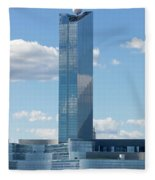 Revel Casino In Atlantic City, New Jersey Fleece Blanket