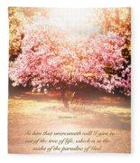 Revelation Tree Of Life Fleece Blanket