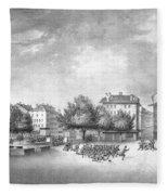 Revolution Of Geneva 1846 Place Bel-air Fleece Blanket