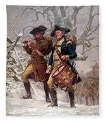 Revolutionary War Soldiers Marching Fleece Blanket