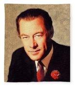 Rex Harrison, Vintage Actor Fleece Blanket