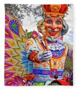 Rex Rides In New Orleans Fleece Blanket